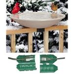 mounted heated bird bath